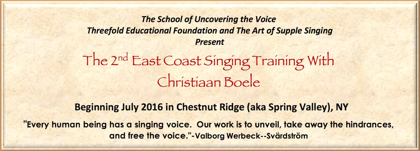 The 2nd East Coast Singing Training With Christiaan Boele