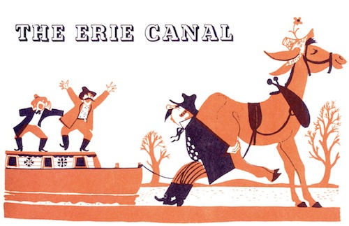 "Traditional American folk songs such as ""The Erie Canal"" are learned during the fifth-grade block on American geography."